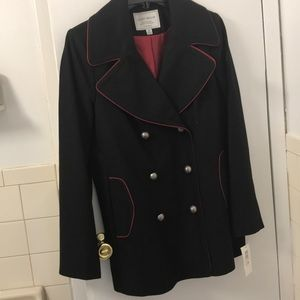 NWT Lucky Brand military design pea coat. Size M